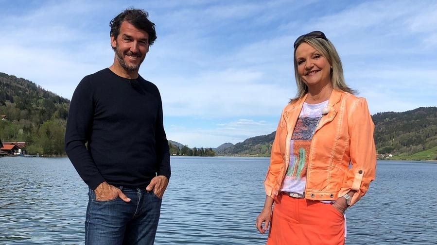 Marianne Kreuzer und Karlheinz Riedle am Alpsee in Immenstadt