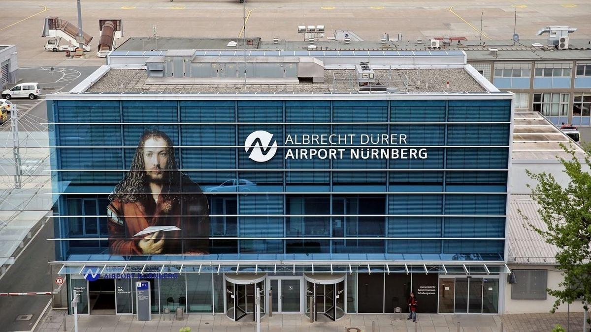 Außenansicht des Nürnberger Flughafens
