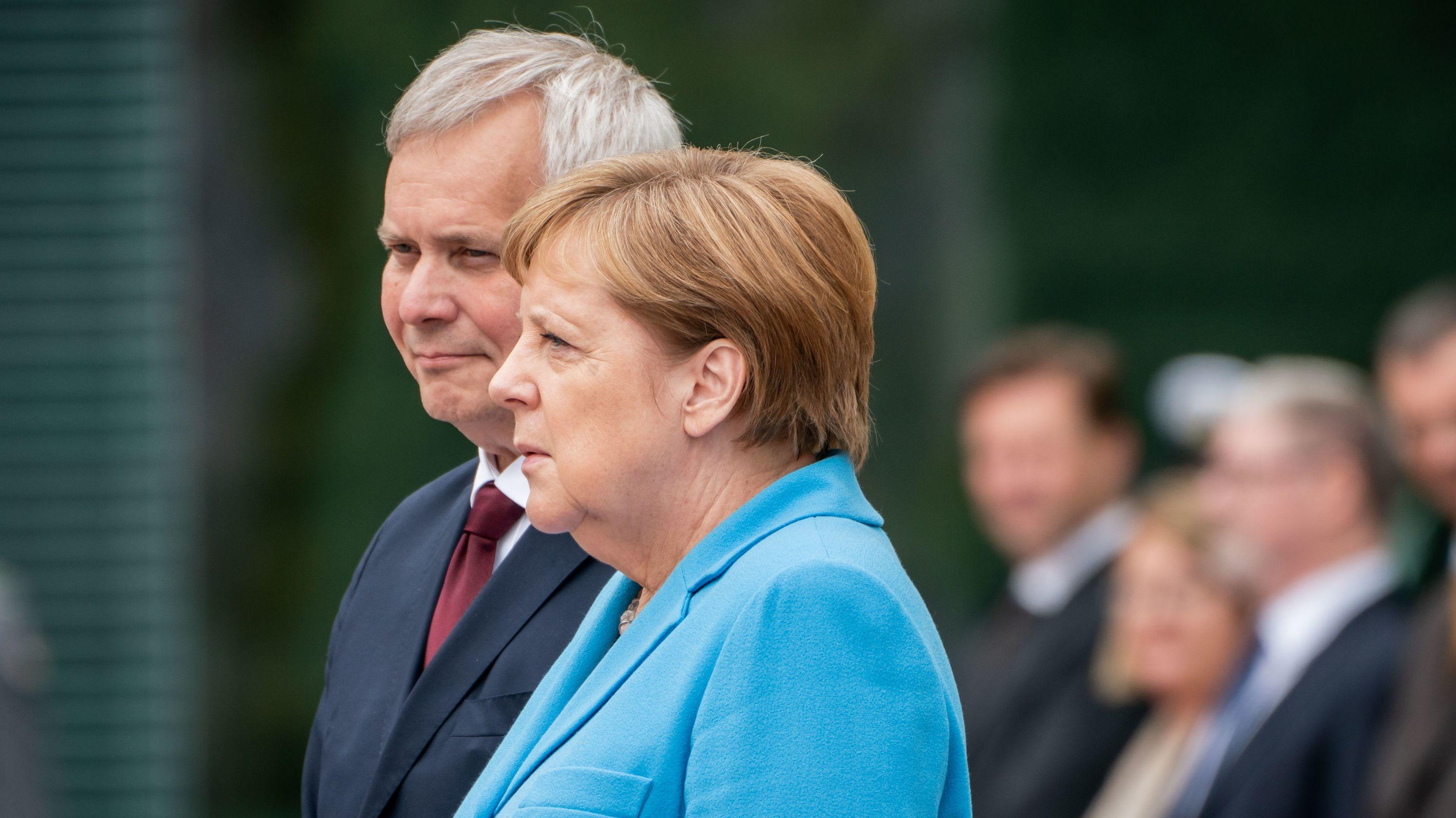 Bundeskanzlerin Angela Merkel (CDU) empfängt Finnlands Ministerpräsidenten Antti Rinne