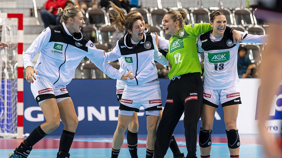 Jubel bei den deutschen Handballerinnen