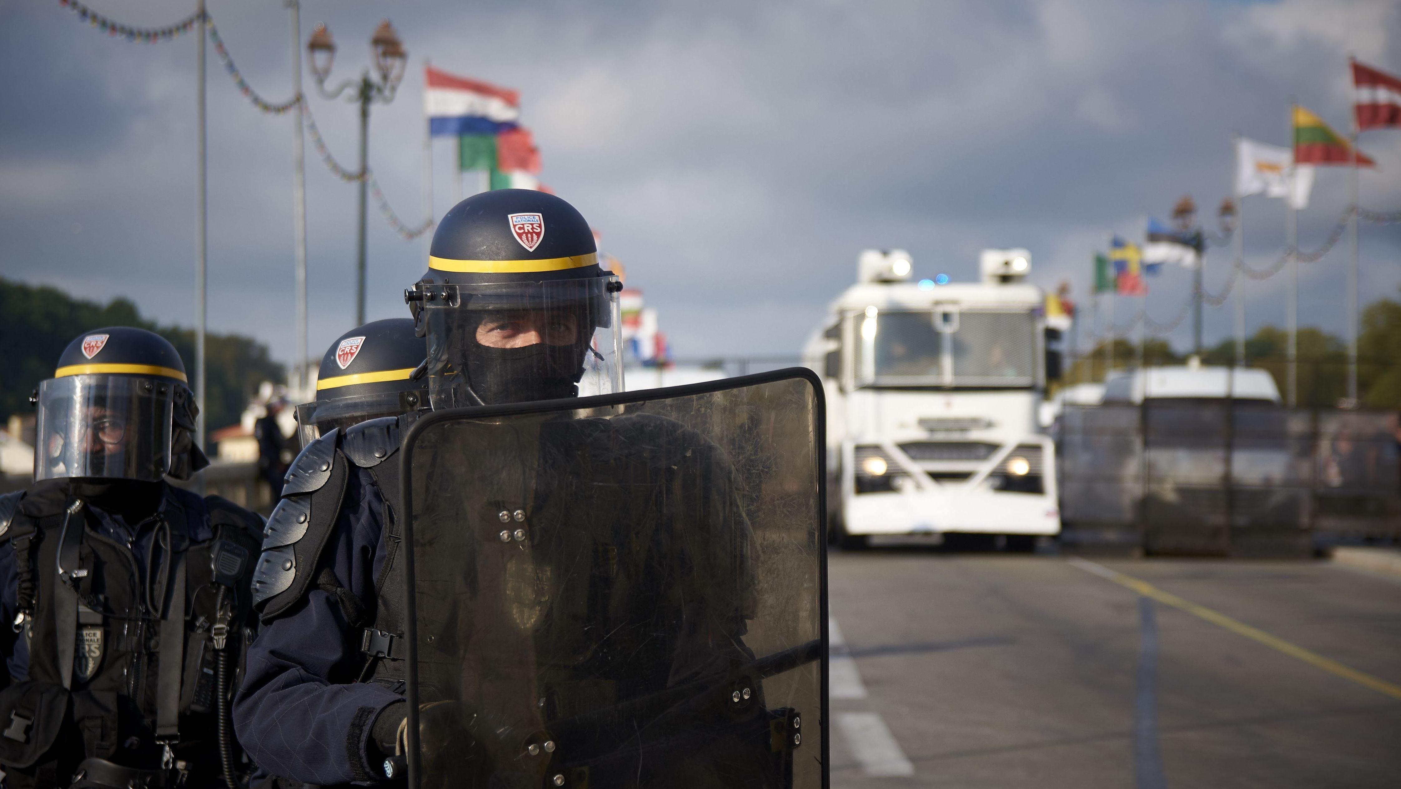 Polizei beim G7-Gipfel in Biarritz
