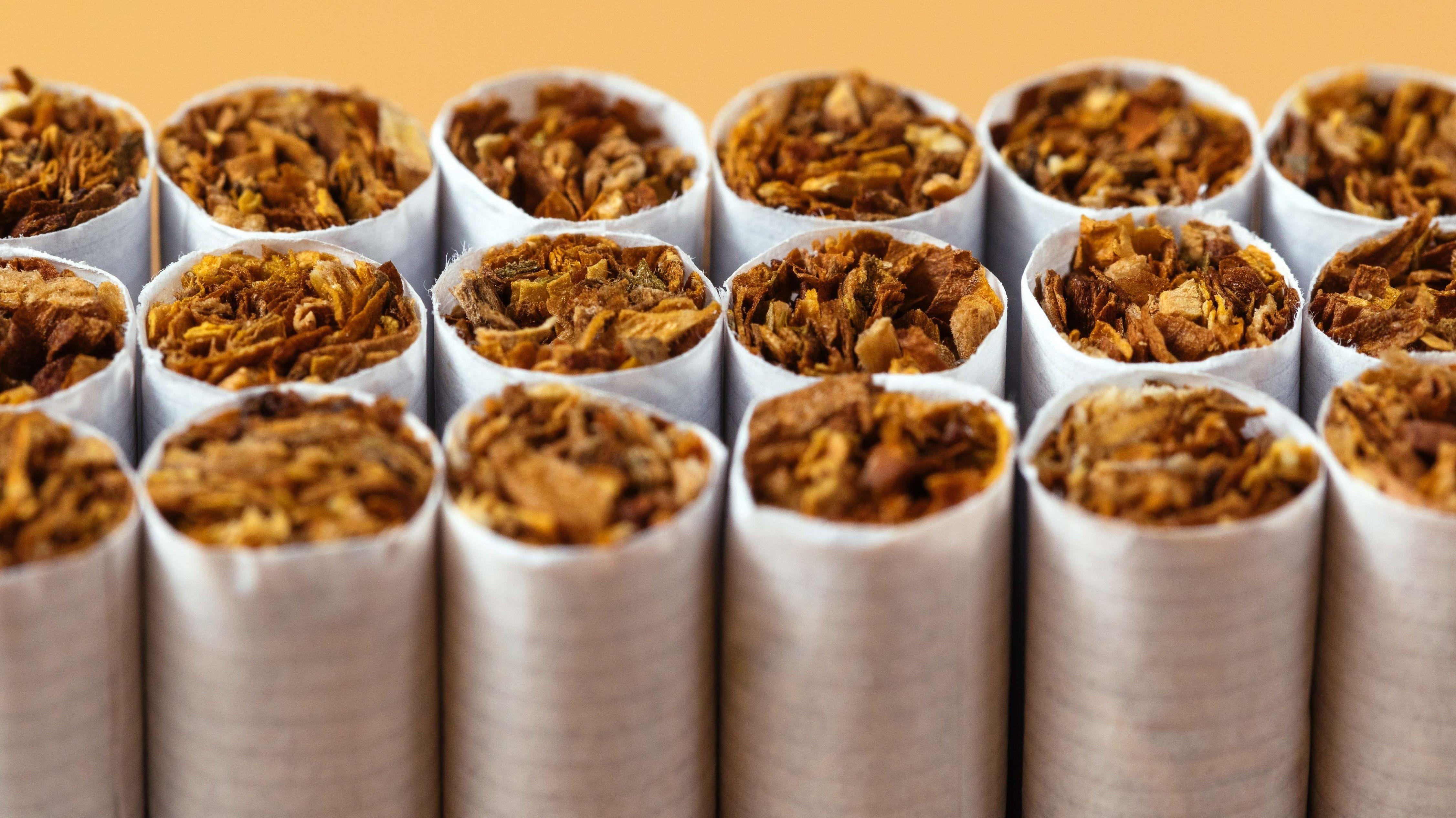 Viele einzelne Zigaretten