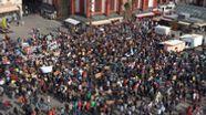 Ende der Klima-Demonstration am Unteren Markt in Würzburg | Bild:Björn Möller/BR-Mainfranken