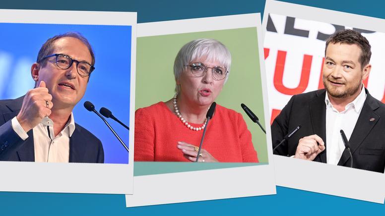 Alexander Dobrindt (CSU), Claudia Roth (Die Grünen) und Uli Grötsch (SPD)  | Bild:picture alliance/dpa | Felix Hörhager, Matthias Balk, SvenSimon | Frank Hoermann/SVEN SIMON