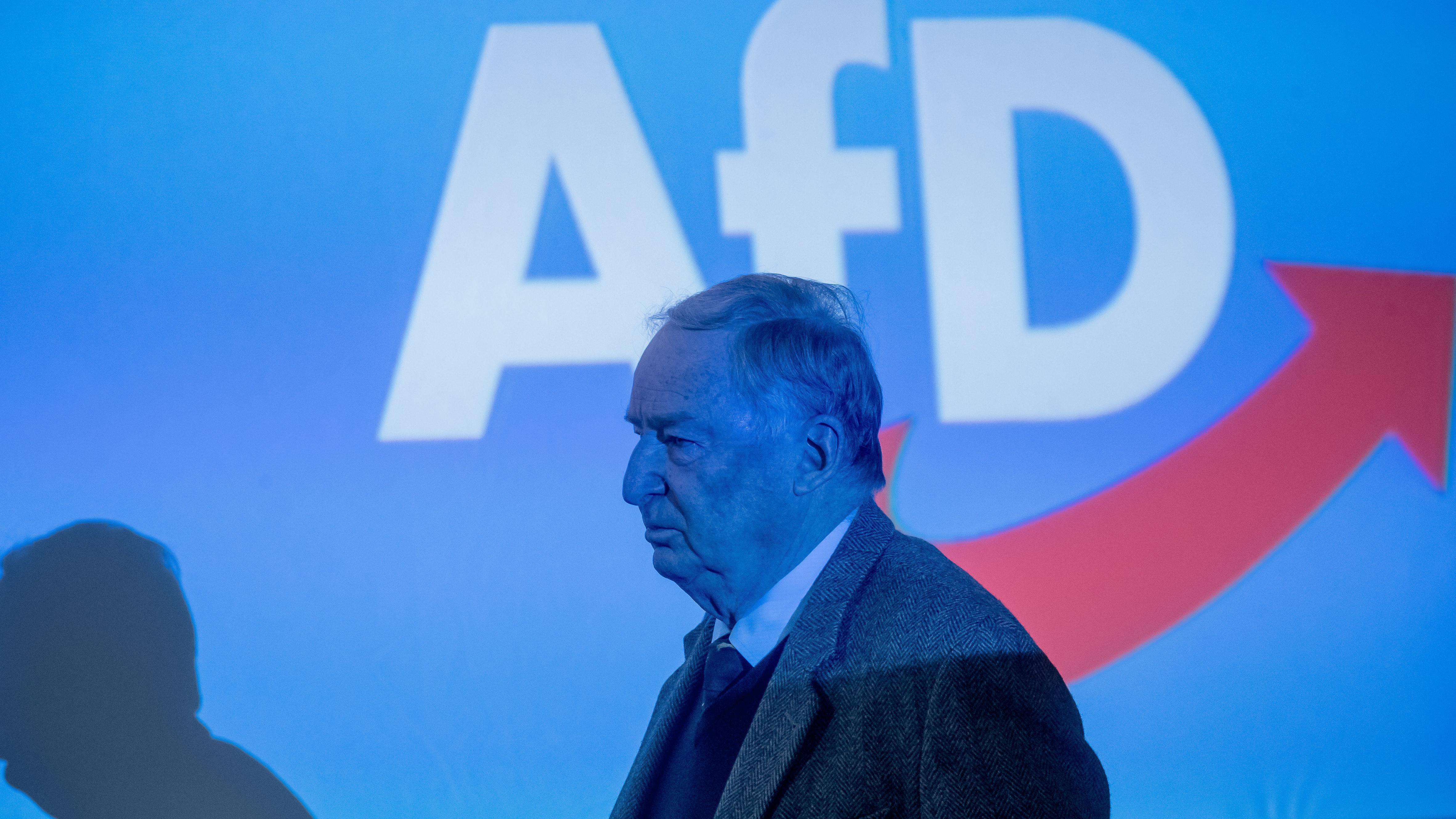 Alexander Gauland geht beim Delegiertenparteitag der AfD zur Wahl der Bewerber zur Europawahl 2019 über die Bühne