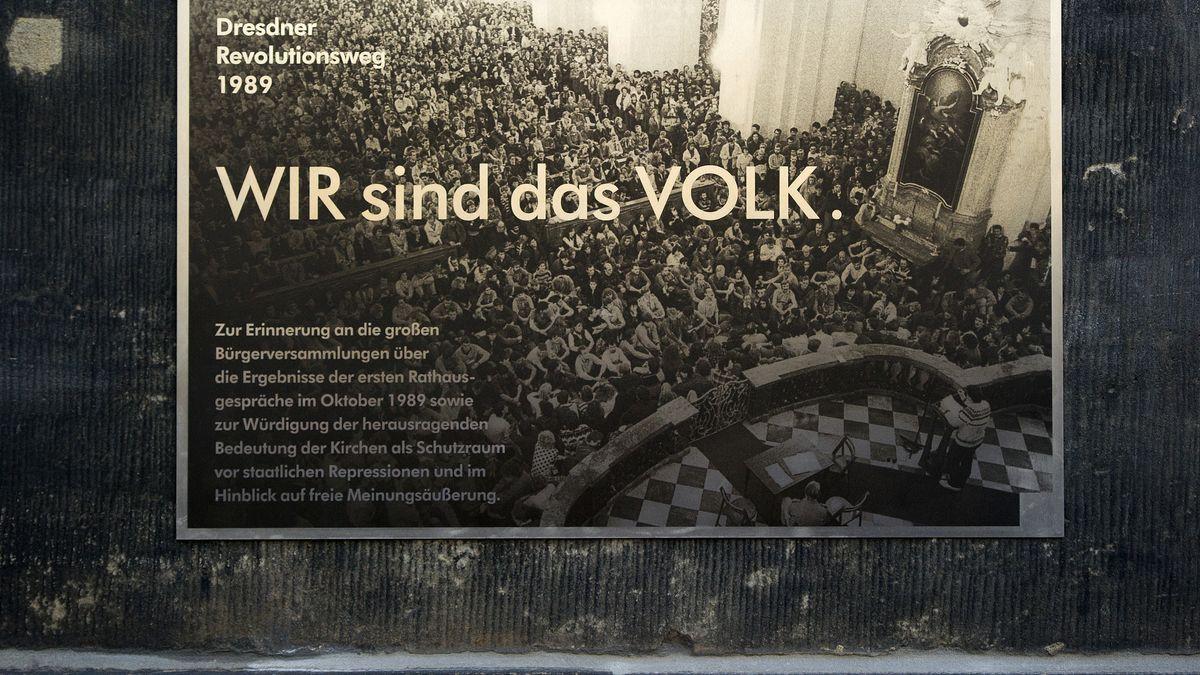 """Mahnmal """"Dresdner Revolutionsweg 1989"""""""