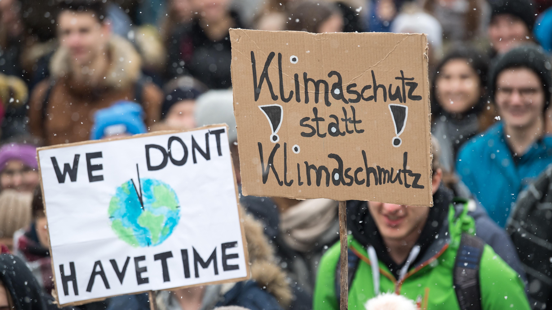 Archivbild: Schülerstreik für Klimaschutz in München im Januar 2019