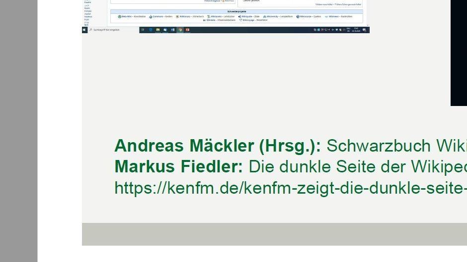 """Vorlesungshandout des Professors mit Link zu """"KenFM""""."""