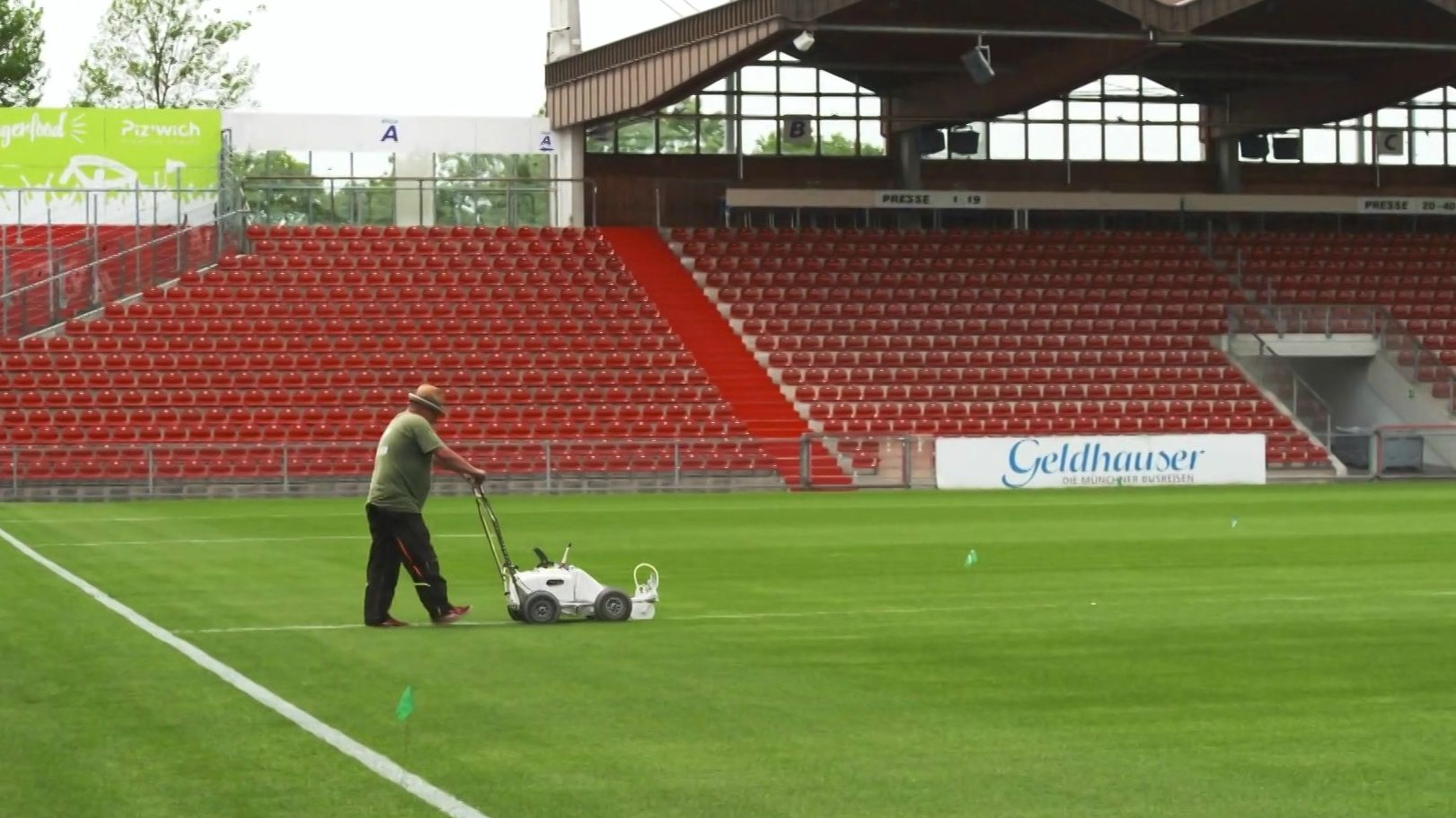 Greenkeeper im Sportpark Unterhaching