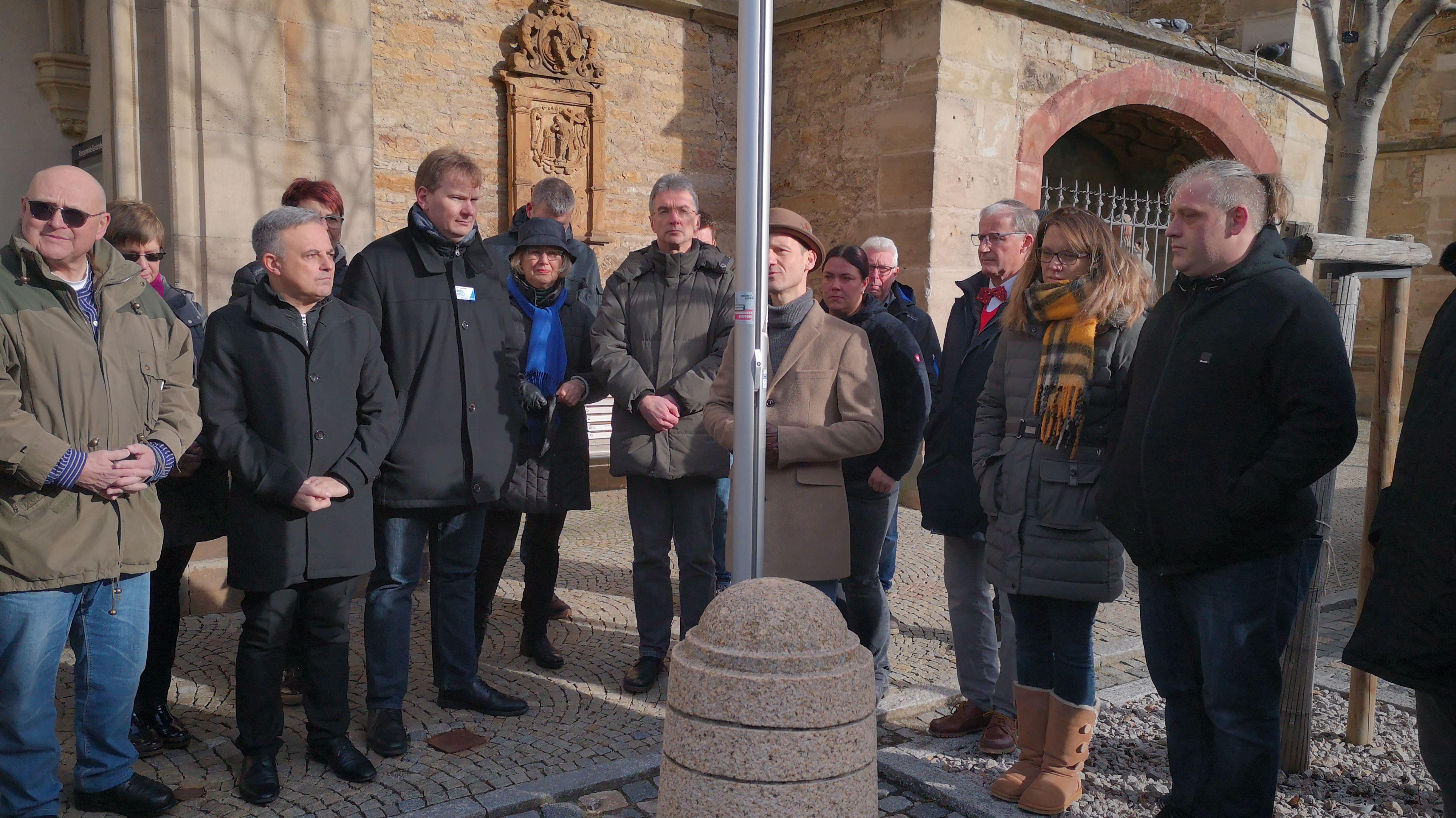 Wahlkampf in Gerolzhofen für Gedenken an Hanau unterbrochen