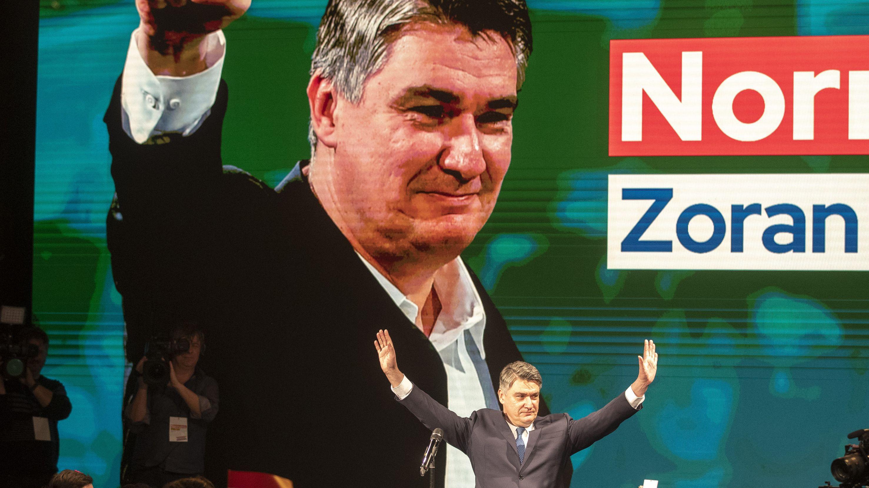 Sozialdemokrat Milanovic hat Amtsinhaberin Grabar-Kitarovic in der ersten Runde der Präsidentschaftswahl in Kroatien geschlagen. Es kommt zur Stichwahl.