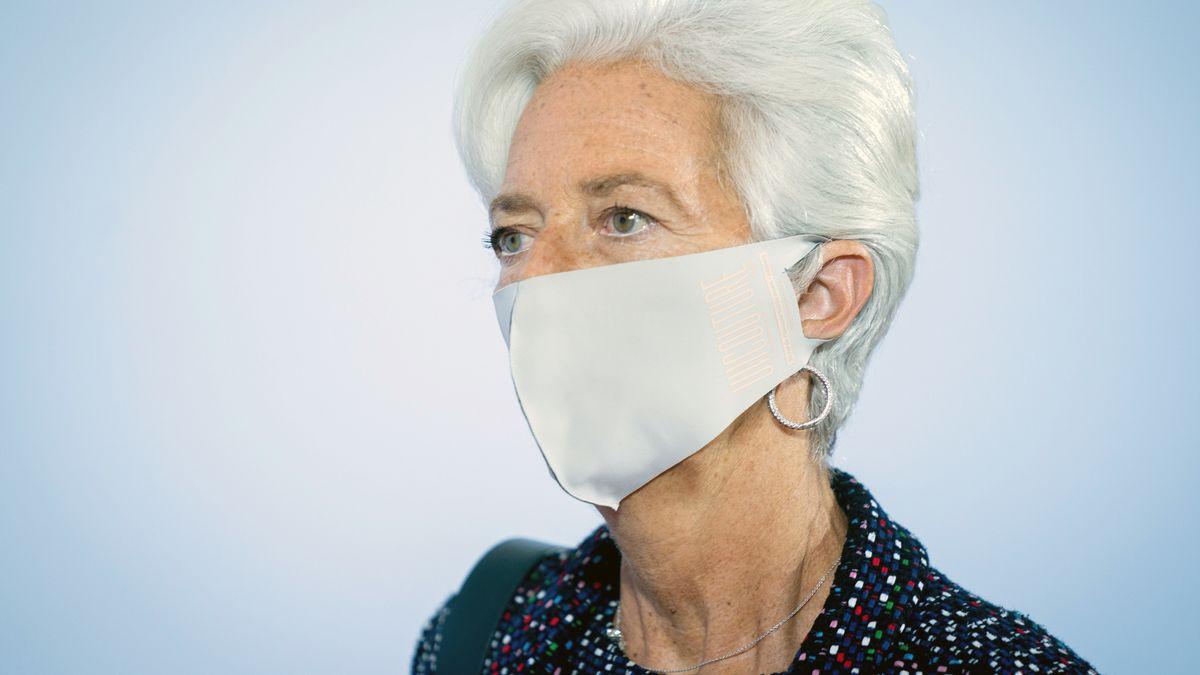 EZB-Präsidentin Christine Lagarde mit Schutzmaske