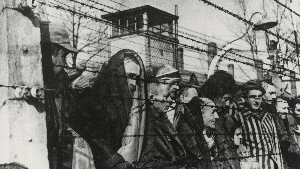Konzentrationslager Auschwitz, nach der Befreiung durch sowjetische Truppen am 26.1.1945.