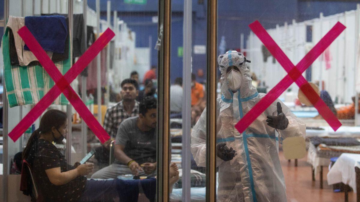 Zentrum für Corona-Infizierte in New Delhi