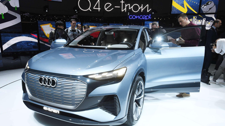 Beim Genfer Autosalon wird am ersten Pressetag der elektrisch angetriebene Audi Q4 e-tron concept präsentiert