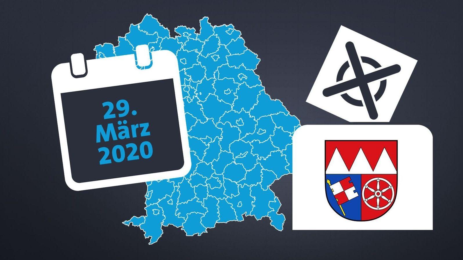 Grafik zur Stichwahl am 29. März in Unterfranken