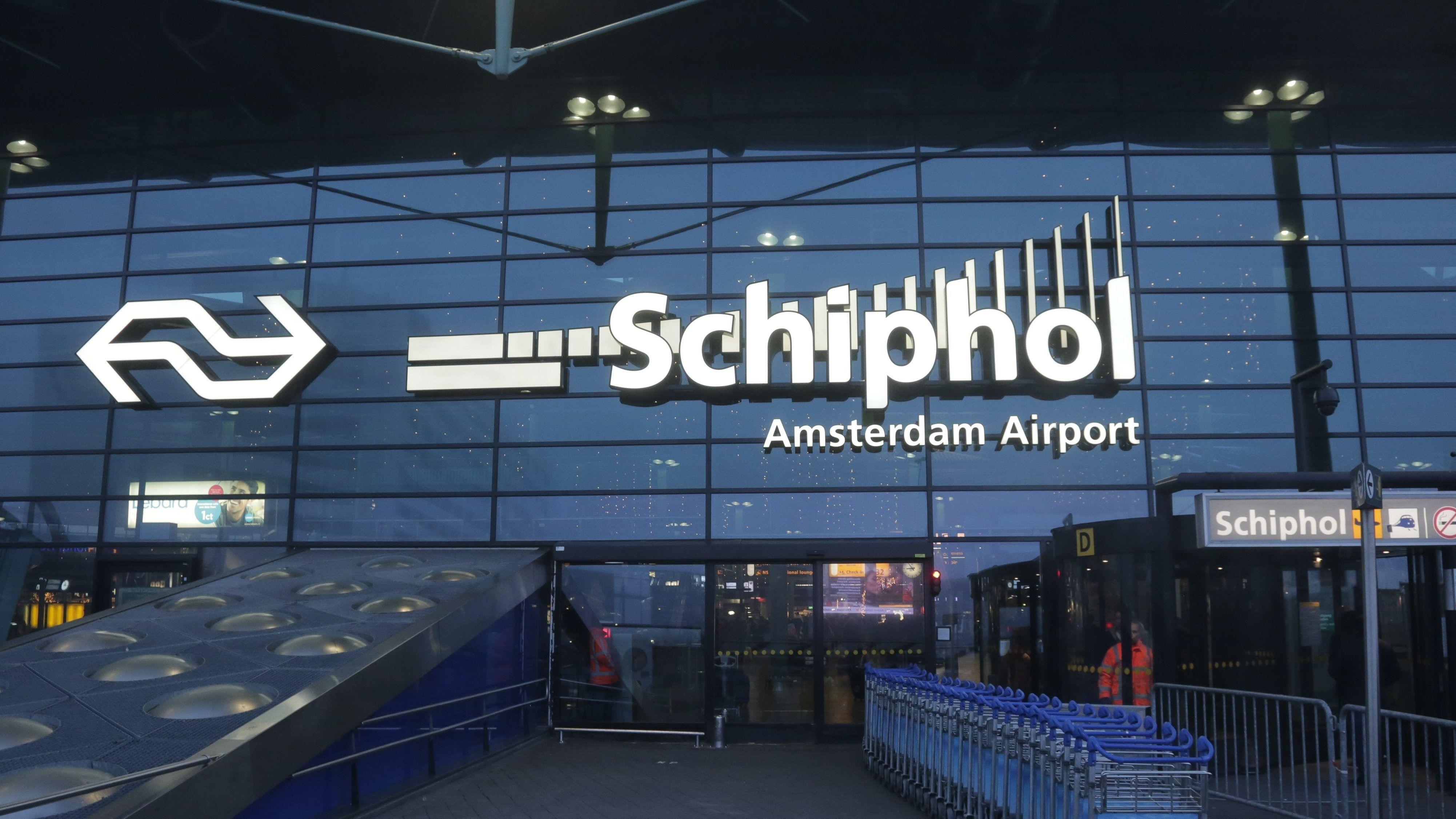 Flughafen Schiphol in Amsterdam