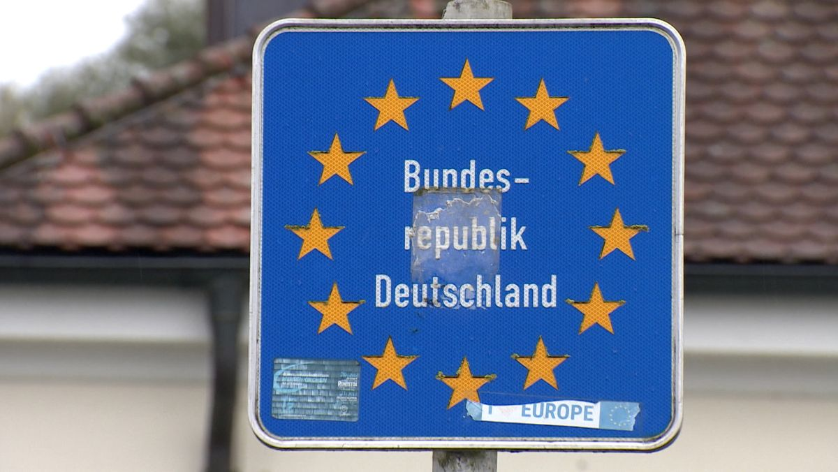 Grenzschild Bundesrepublik