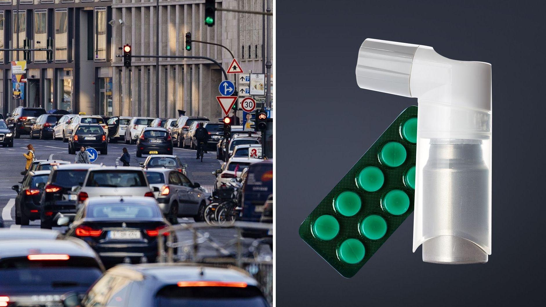 Umweltzonen machen Anwohner gesünder. Asthmatiker und Herzkranke brauchen weniger Medikamente bei weniger Feinstaub und Stickstoffdioxid.
