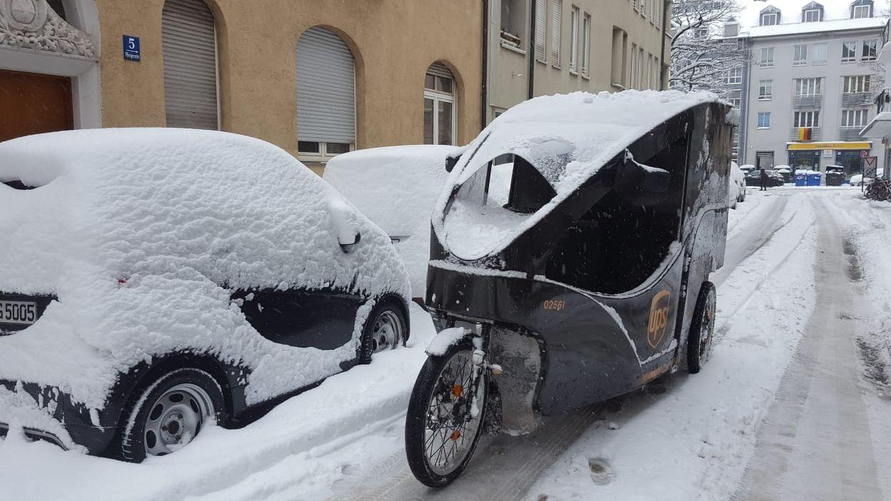Schnee und Eis sind für Lastenräder kein Problem