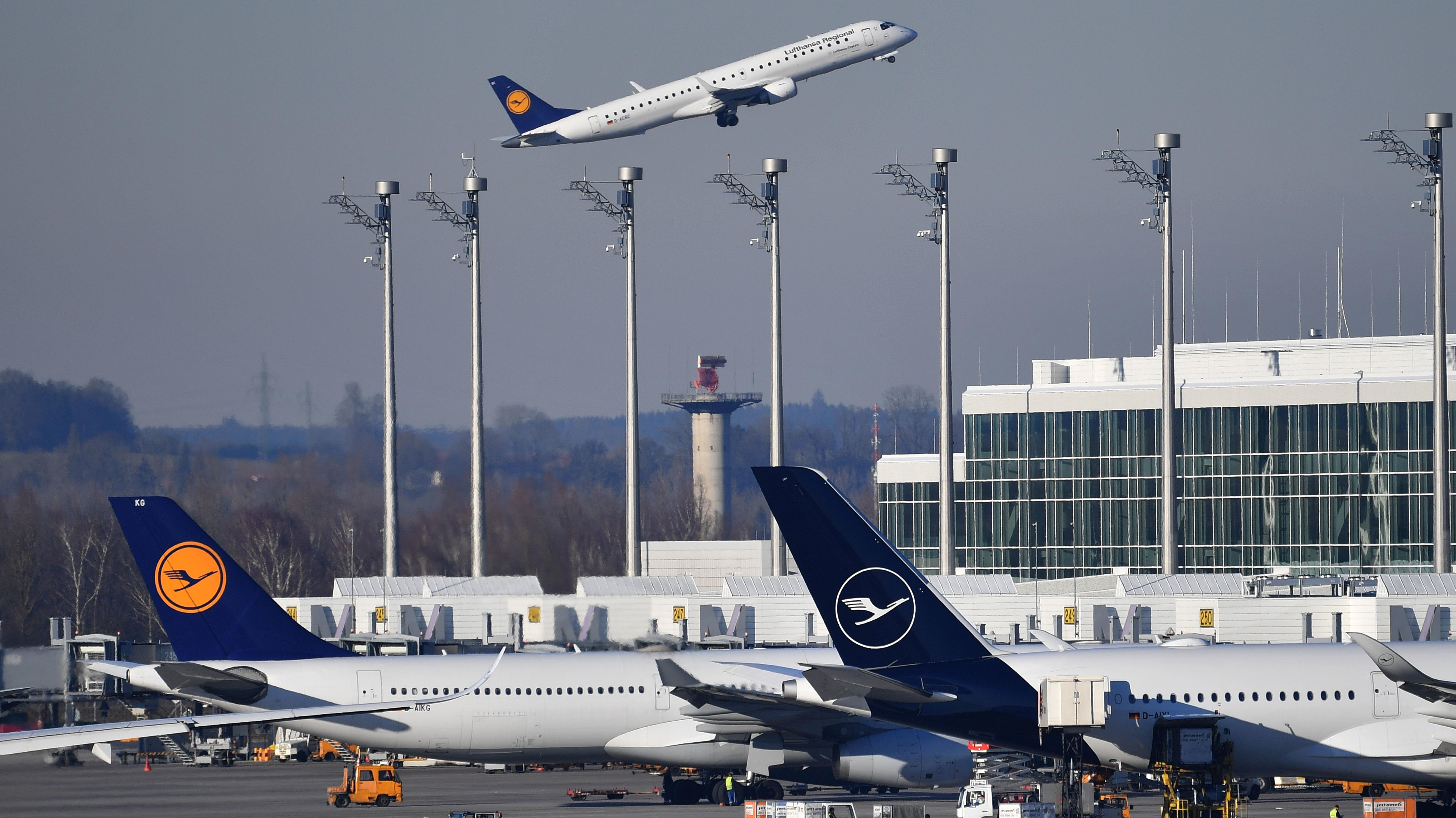 Flugzeuge am Münchner Flughafen