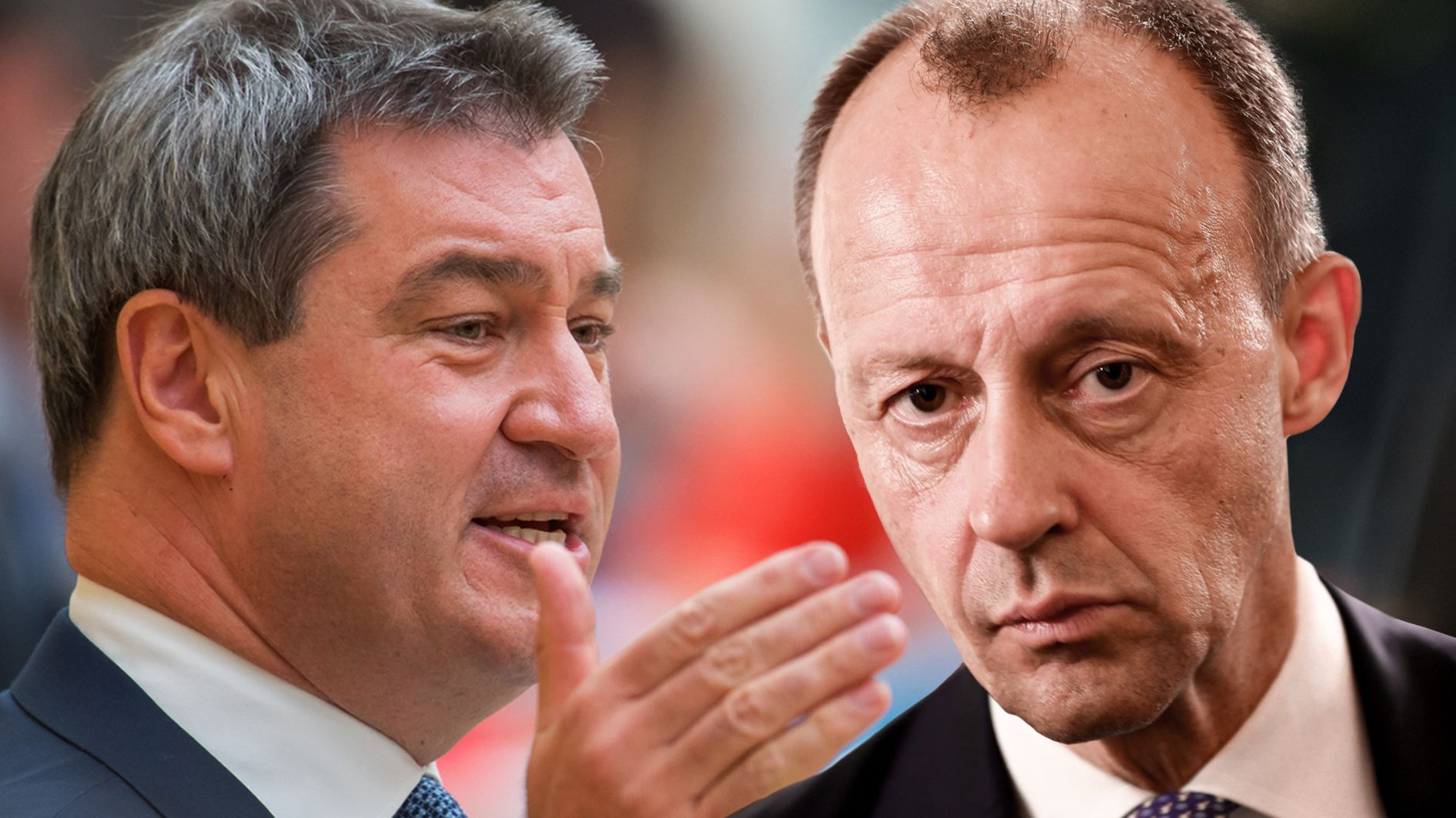 Unions-Politiker Söder und Merz