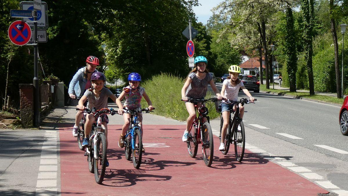 Radeln zur Schule in Starnberg