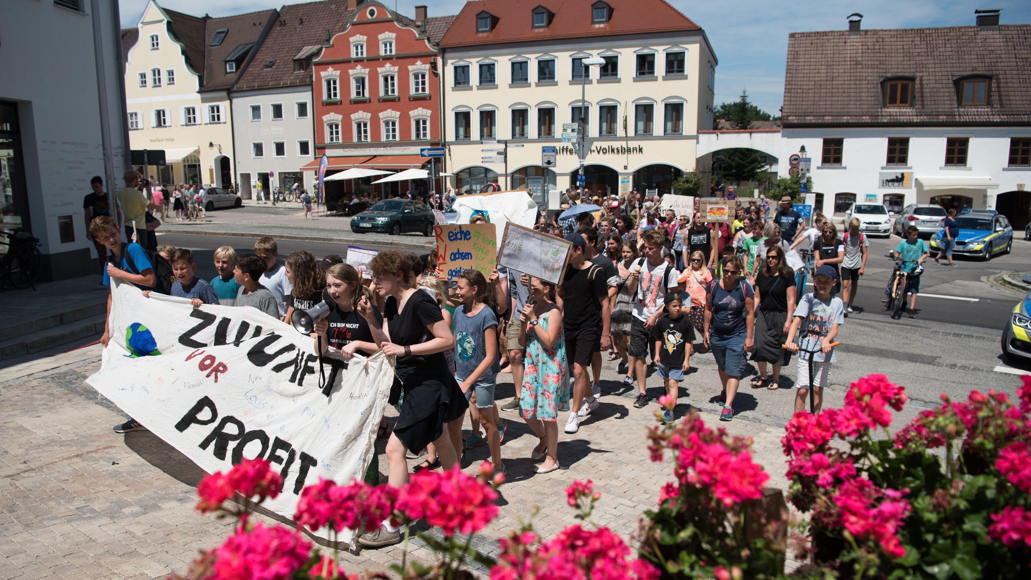 Fridays for Future-Demo in Ebersberg.