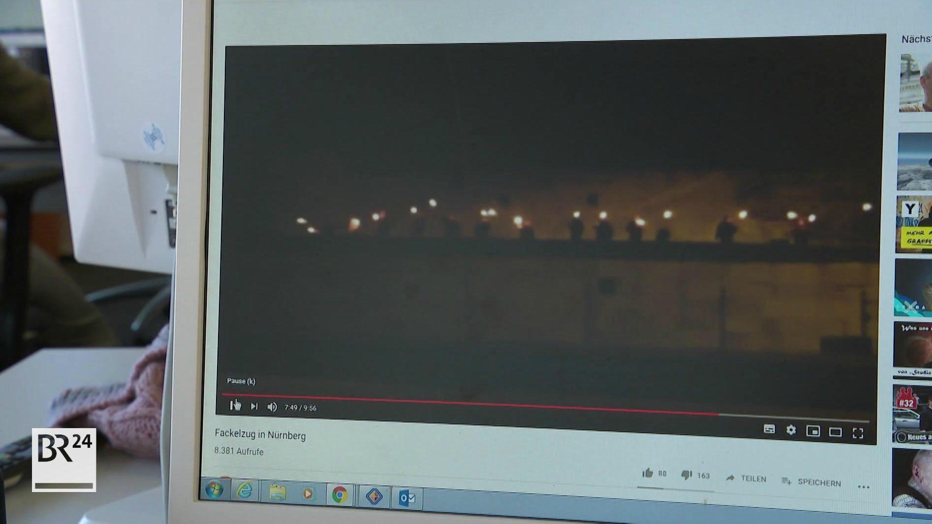Video des Fackelzuges über das Reichsparteitagsgelände in Nürnberg