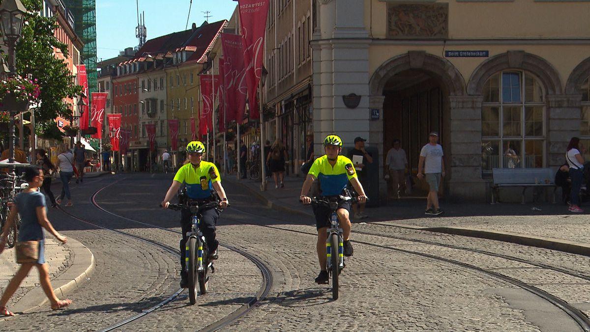 Fahrradstreife in Würzburg
