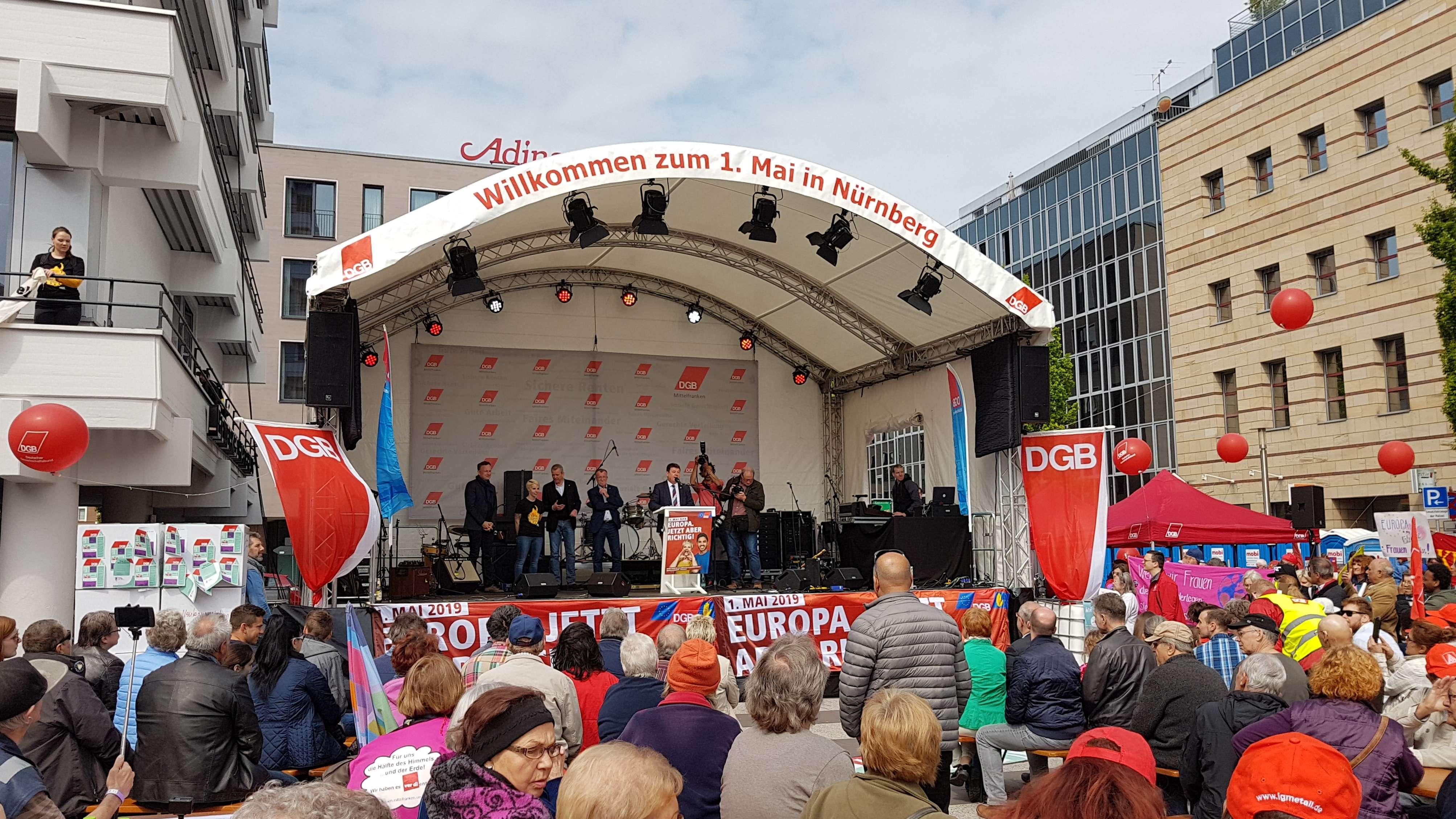 DGB-Kundgebung zum 1. Mai in Nürnberg