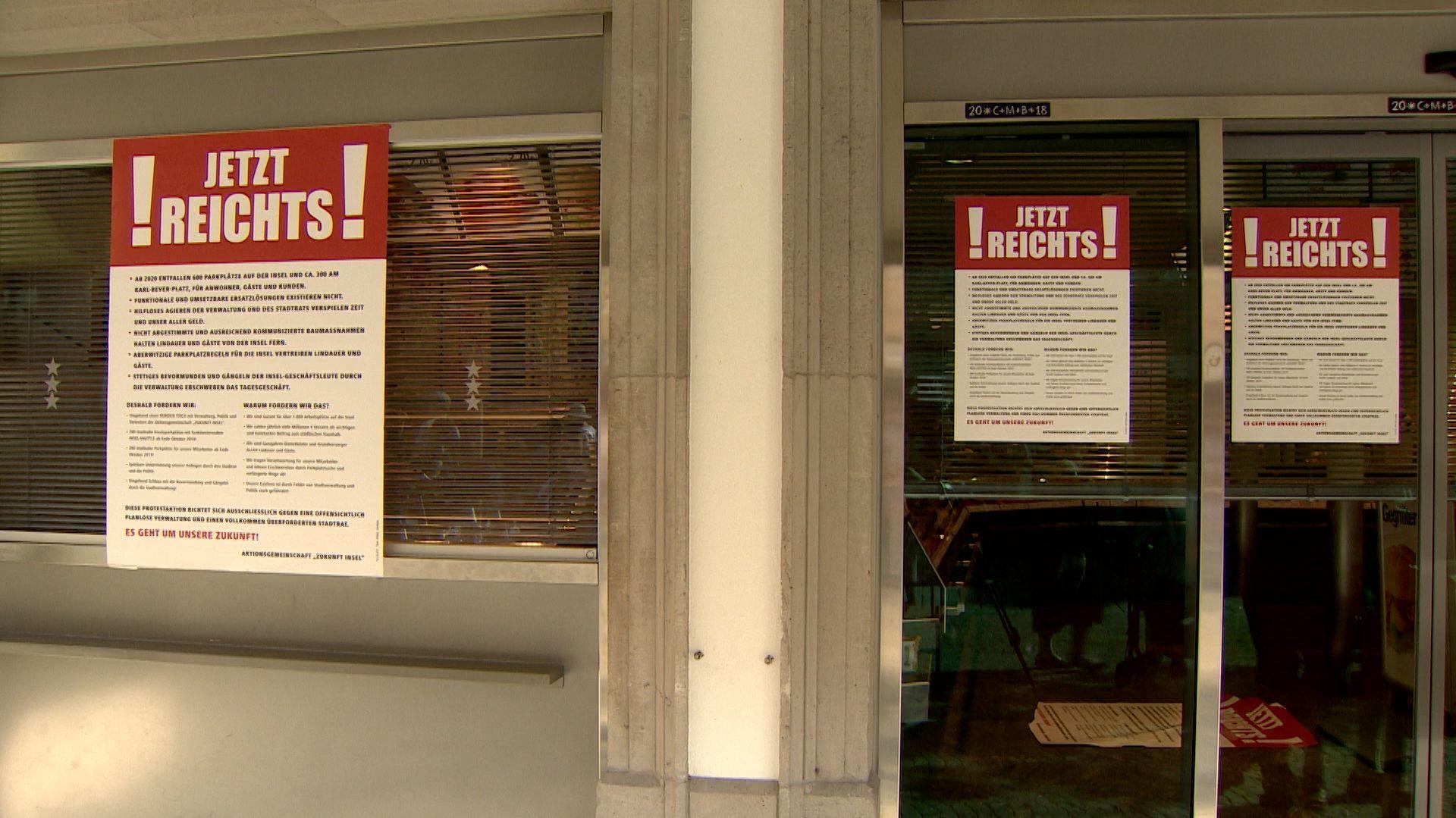 Streikplakate in Lindau