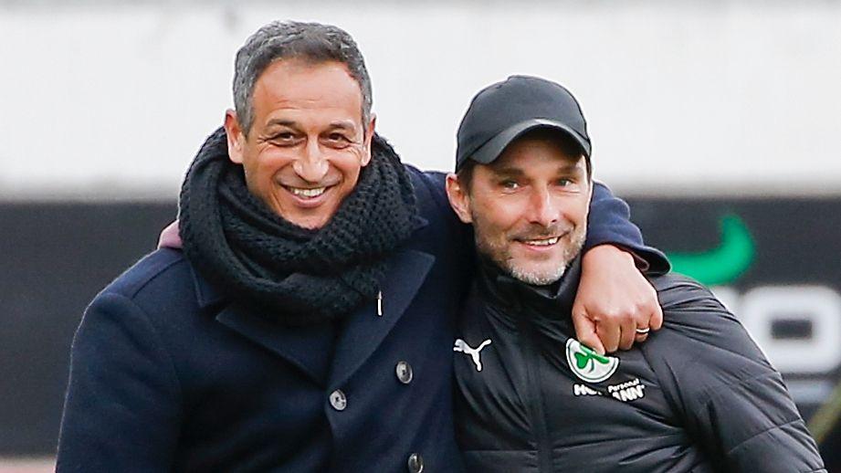 Fürths Sportchef Rachid Azzouzi (links) und Trainer Stefan Leitl