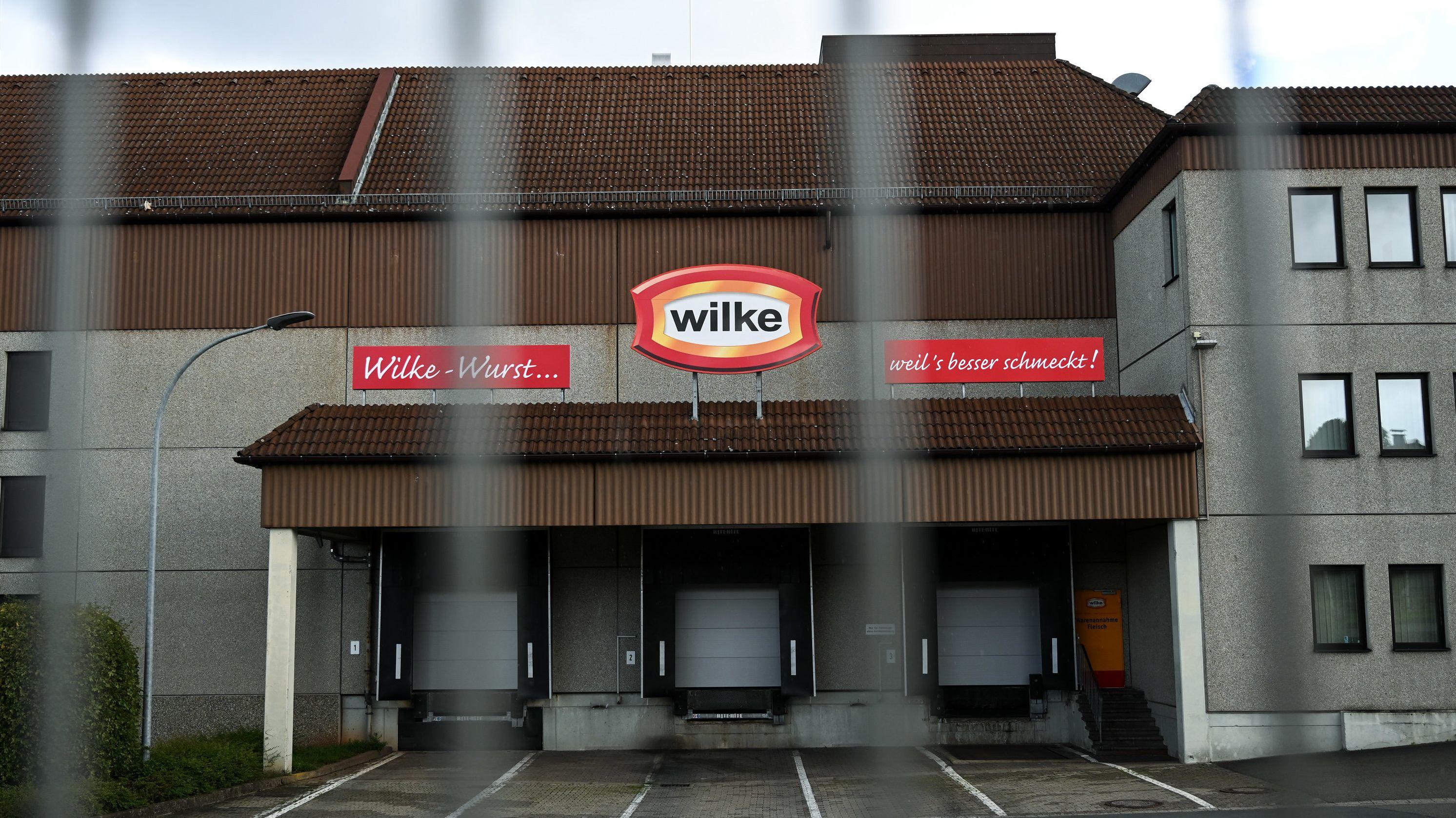 Firmengebäude von Wilke Wurstwaren in Twistetal Hessen.