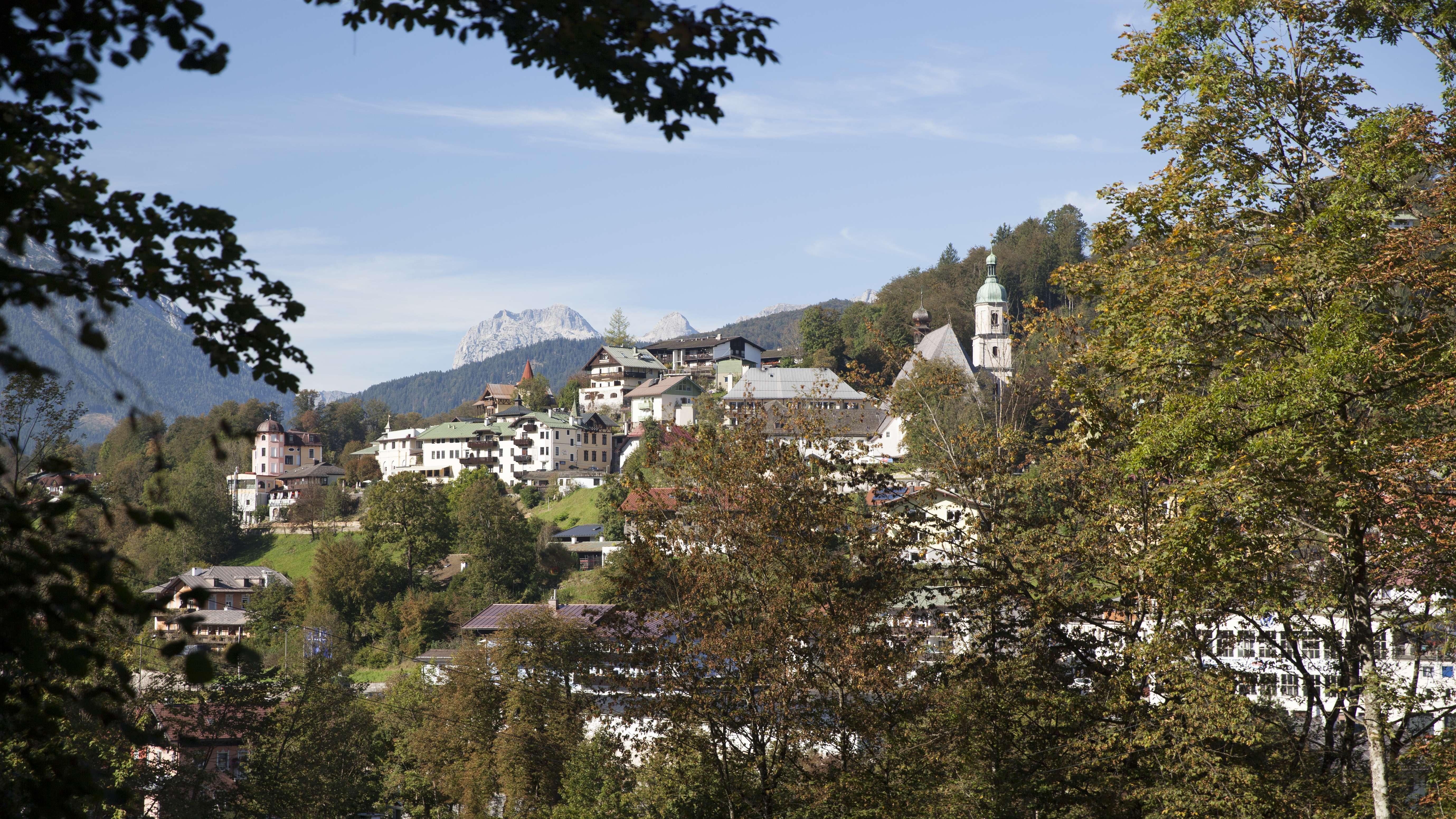 Blick auf das Franziskanerkloster in Berchtesgaden.