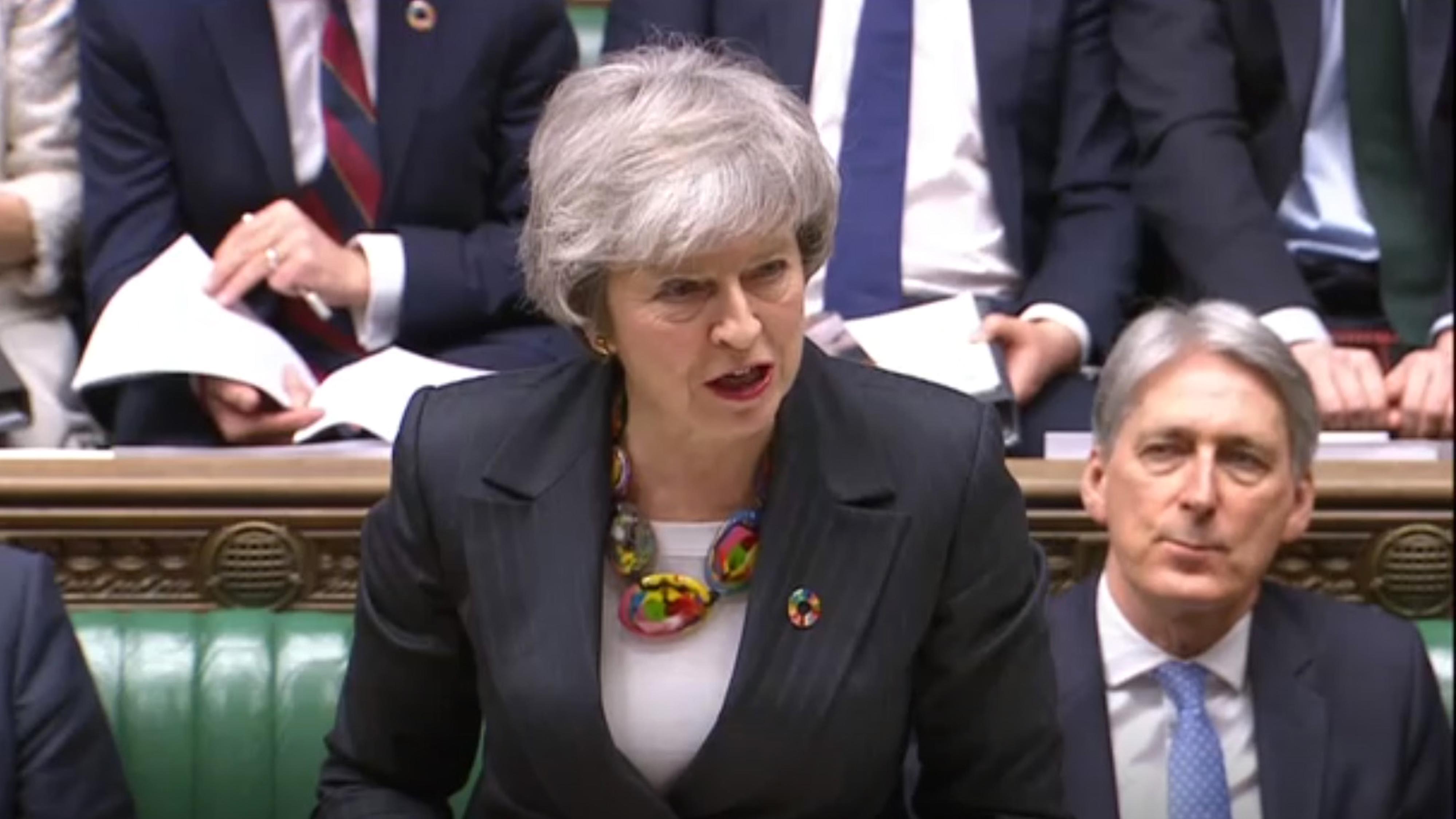 12.2.19, London: Theresa May im Unterhaus