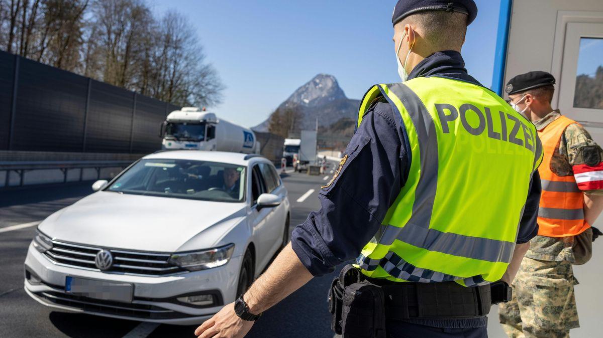 Grenzübergang - österreichische Grenze