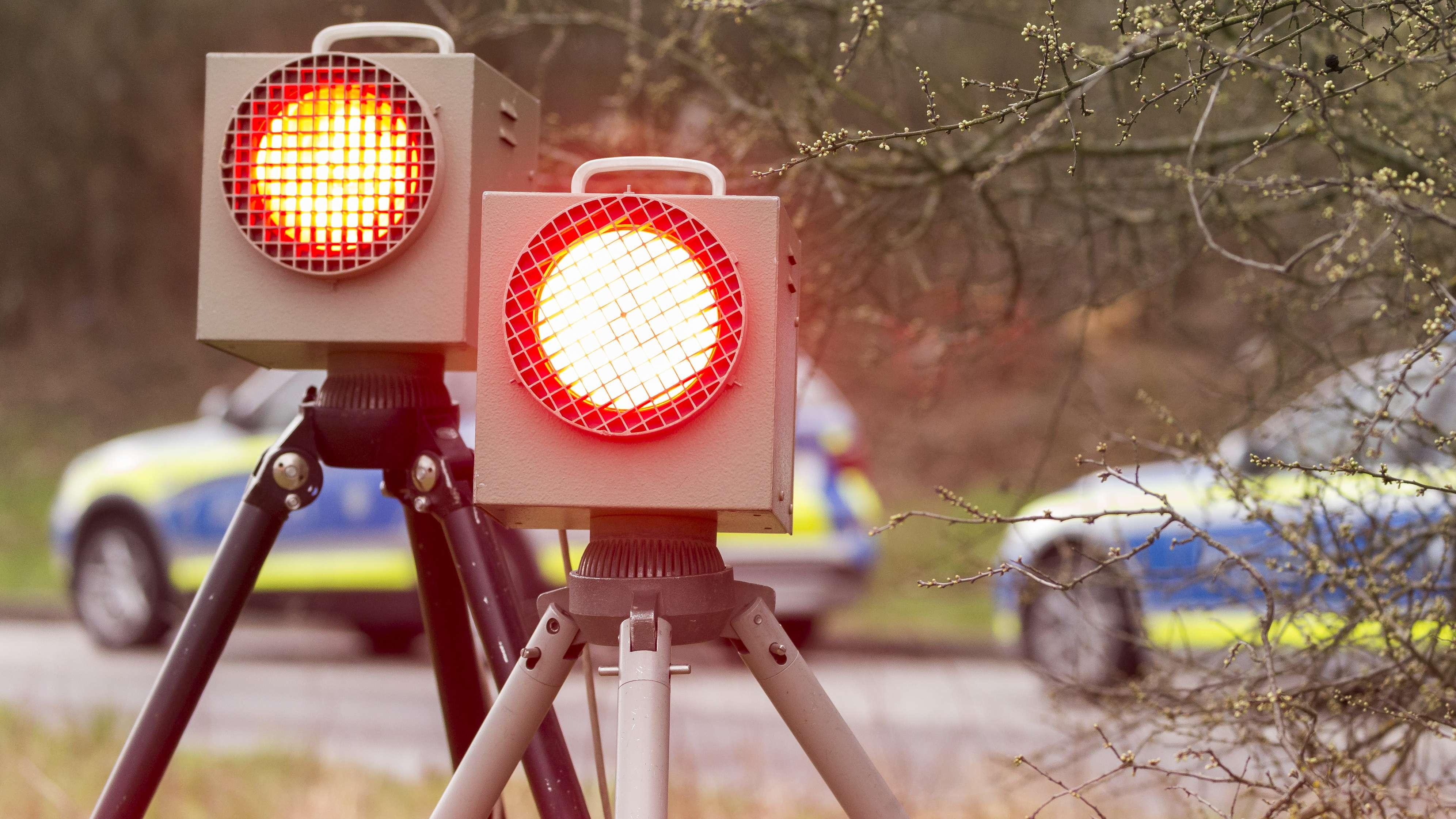 Geschwindigkeitskontrolle der Polizei