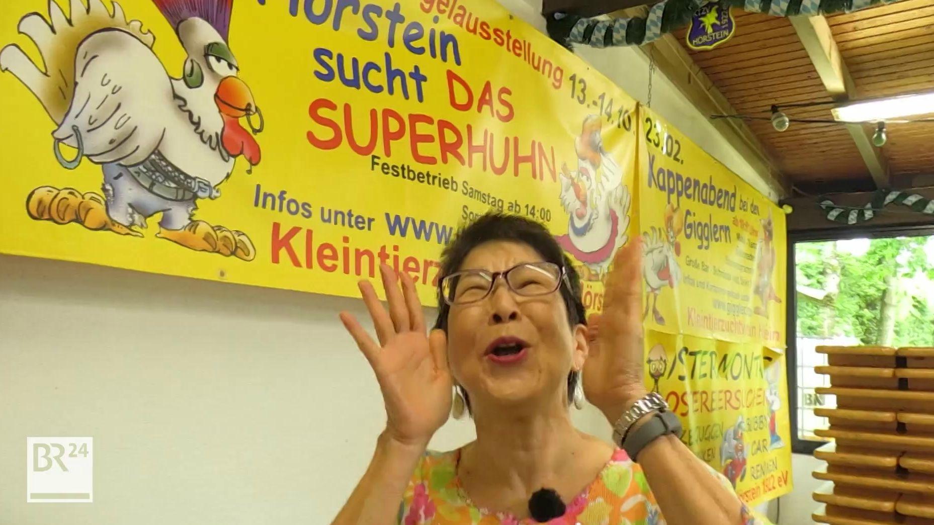 Karnda Vaidyanuwat ist Siegerin der Deutschen Gockelkrähmeisterschaft