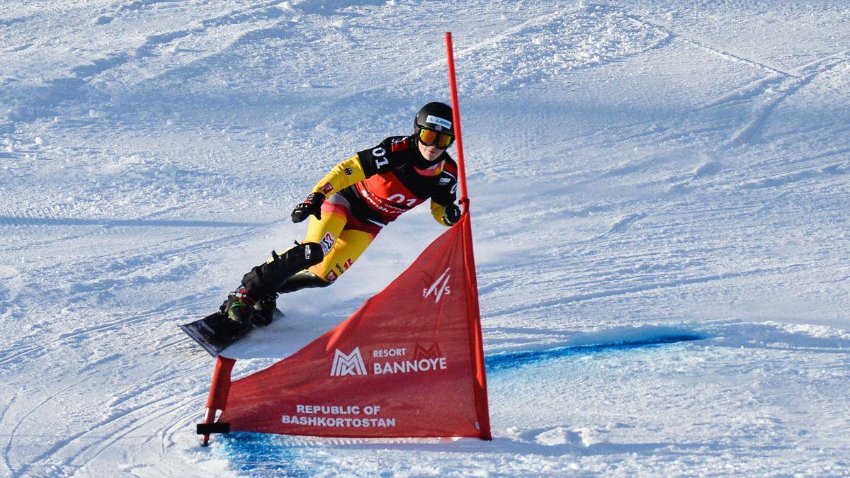Snowboarderin Selina Jörg in Aktion