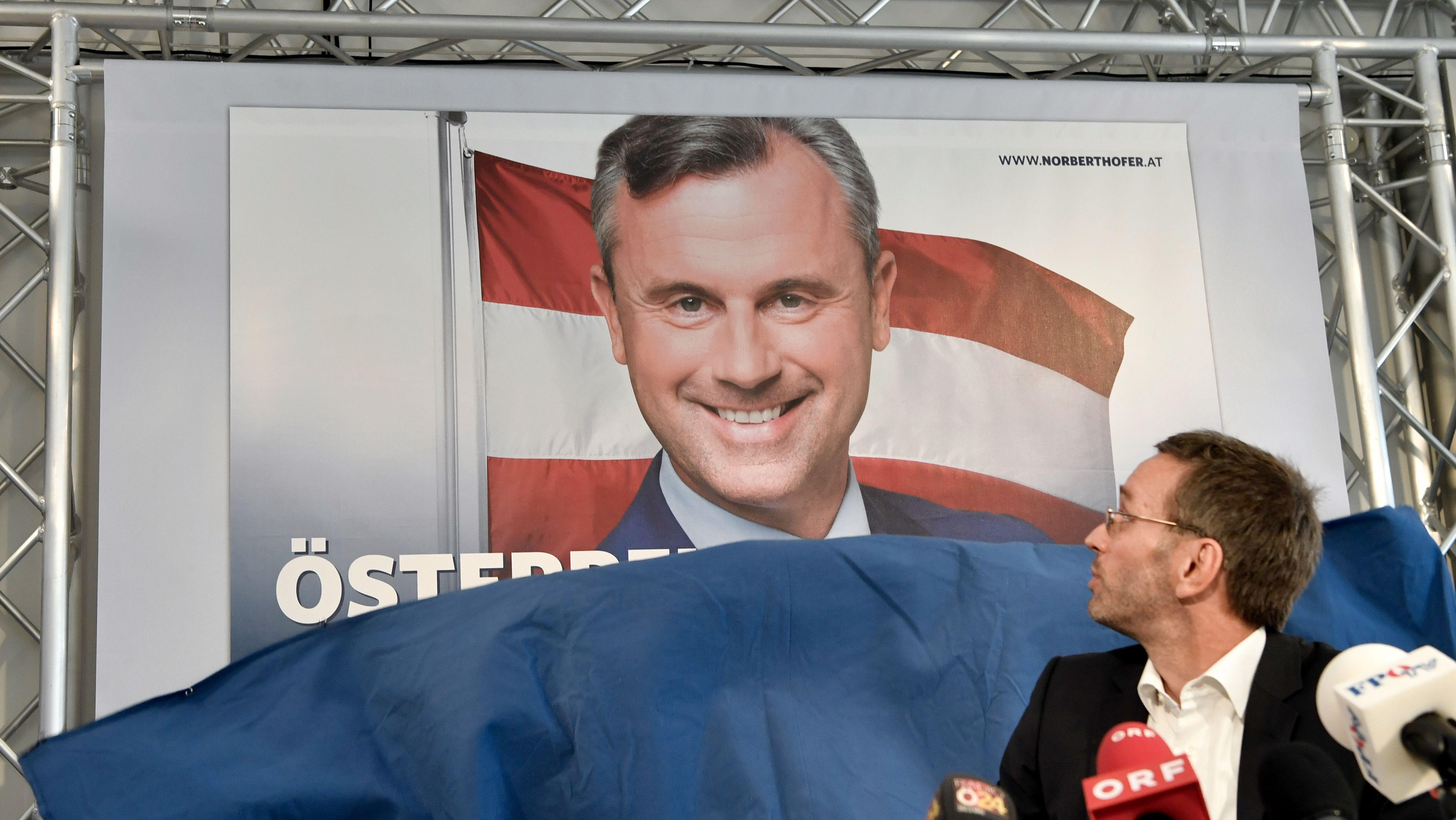 FPÖ-Politiker Hofer und Kickl im Bundespräsidentschaftswahlkampf 2016
