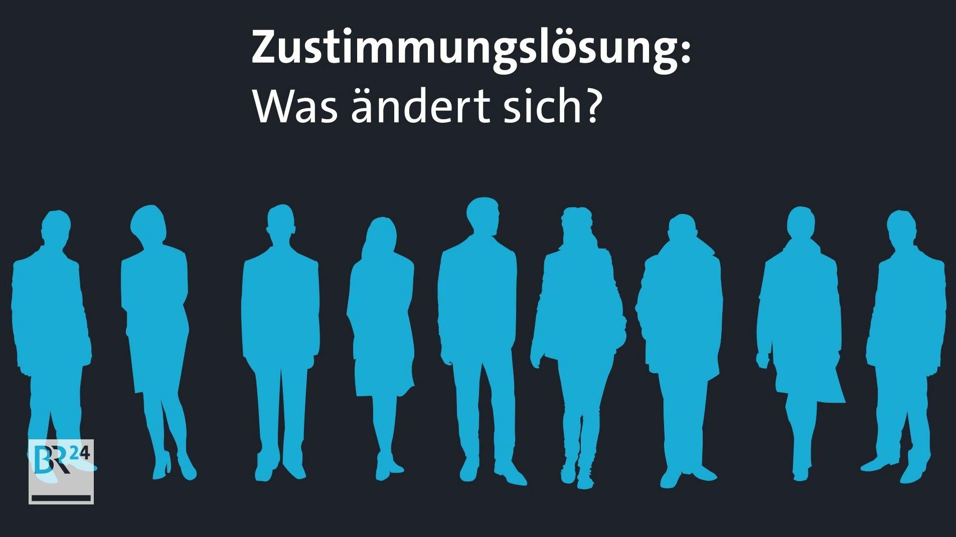 Grafische Darstellung der Silhouette von Erwachsenen.