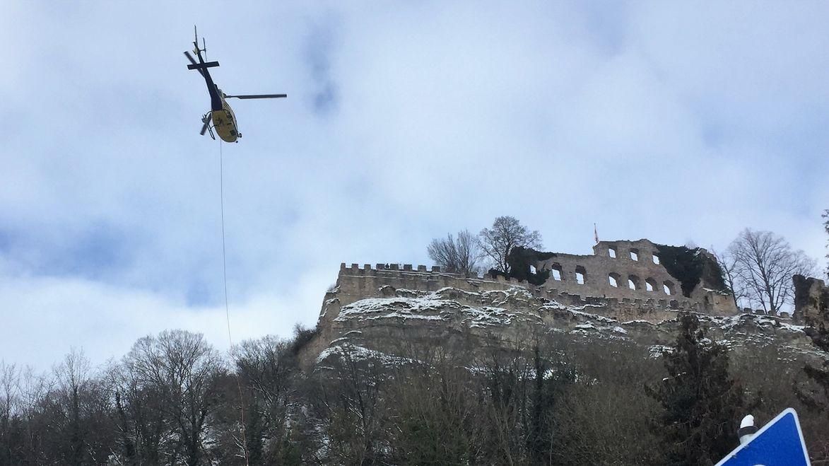 Rodnugsaktion mit Hubschrauber