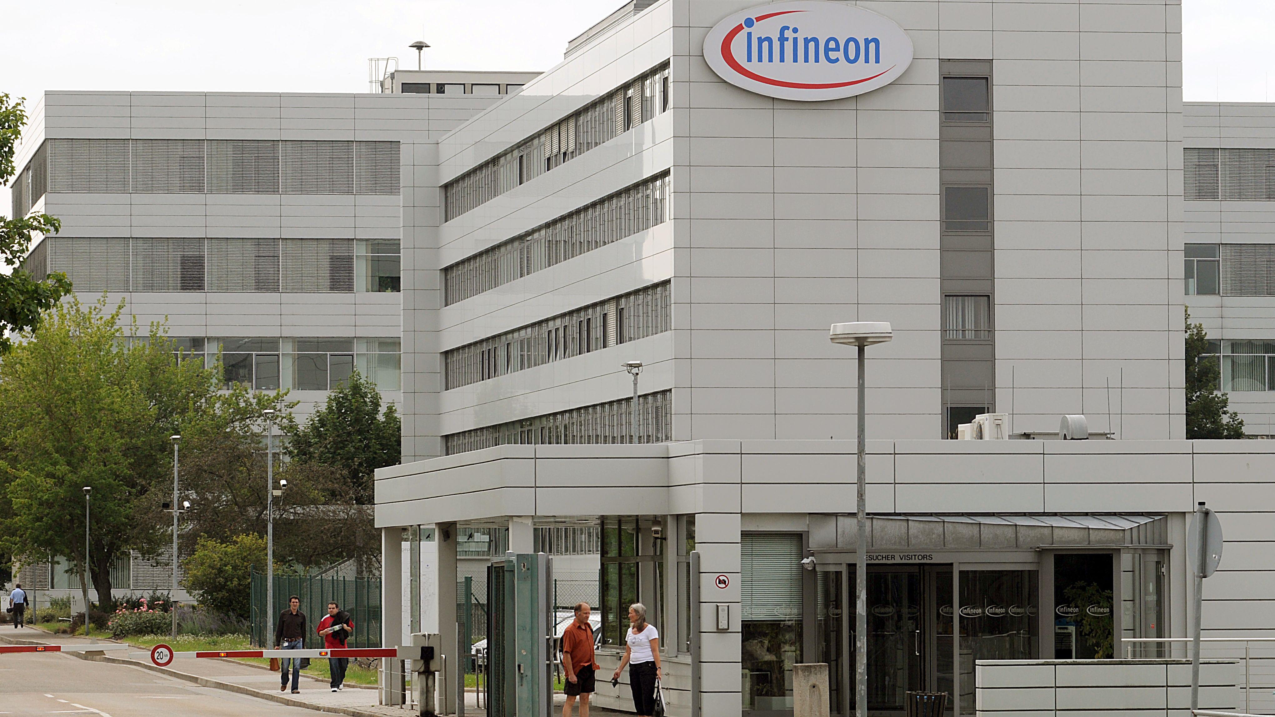 Werksgelände von Infineon in Regensburg