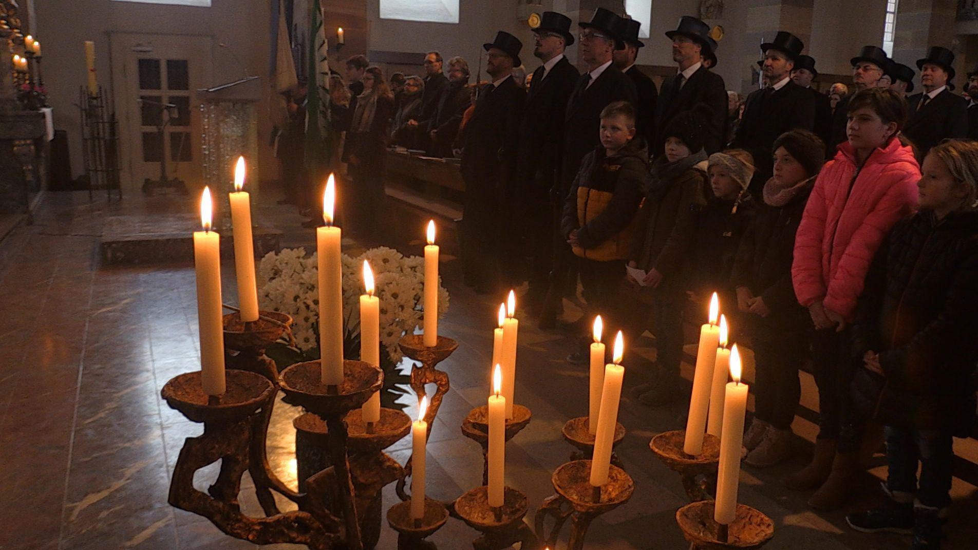 Festgottesdienst zum Sebastiani-Gelübde in der Oberschwarzacher Kirche St. Peter und Paul.