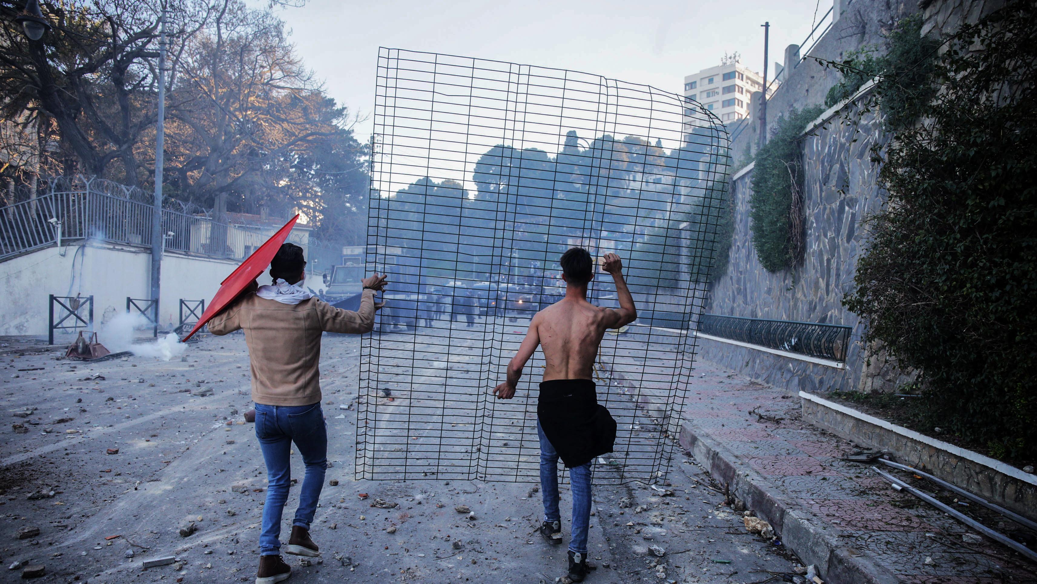 Proteste am 01. März in Algiers