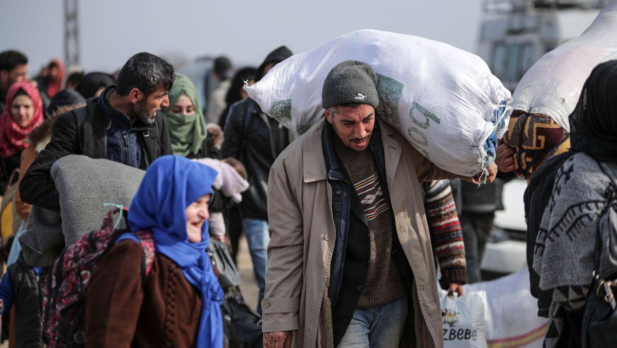 Migranten in der Nähe von Edirne