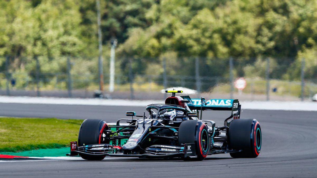 Valtteri Bottas auf dem Kurs in Silverstone