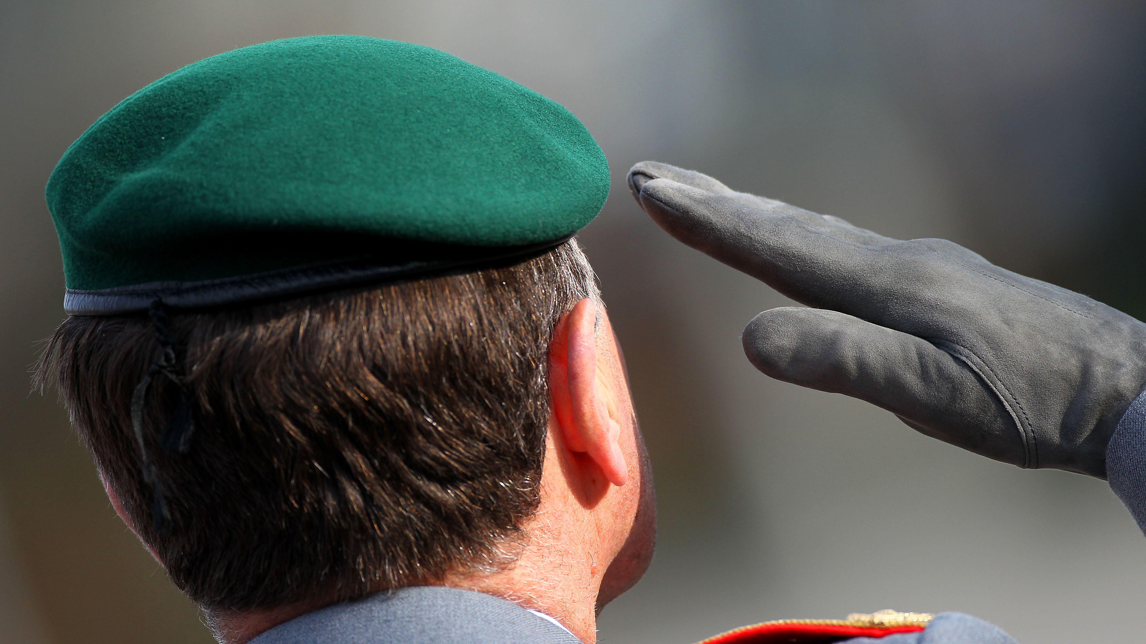 Ein Offizier der Bundeswehr