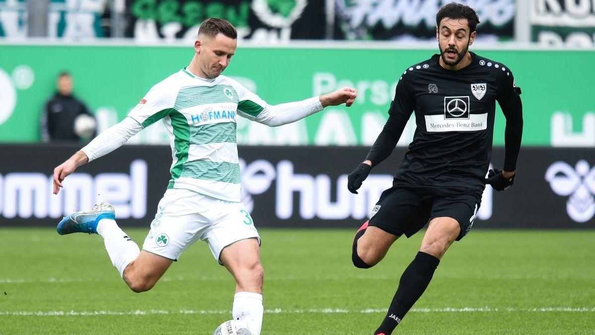 Spielszene SpVgg Fürth gegen VfB Stuttgart